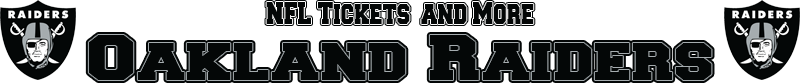 Oakland Raiders Memorabilia, Tickets and More